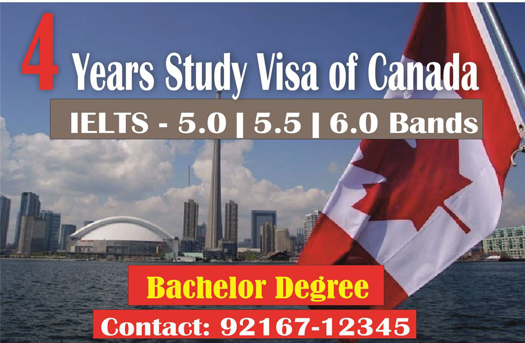 5. Now get 4 years Canada Study Visa